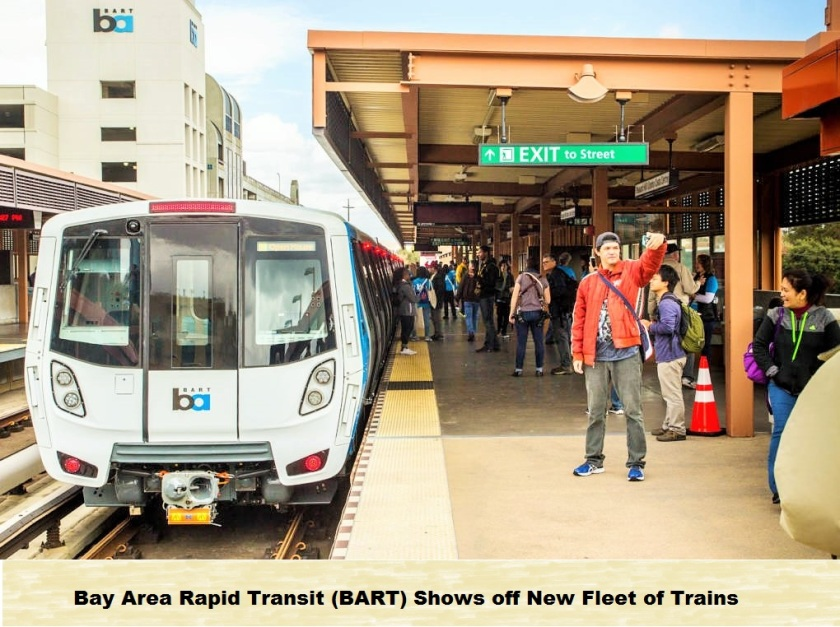 BART shows off new trains