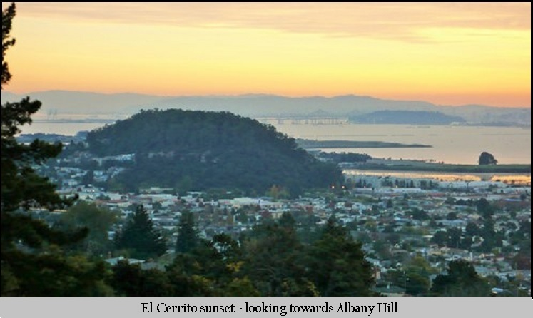 El Cerrito Sunset1 - looking towards Albany Hill