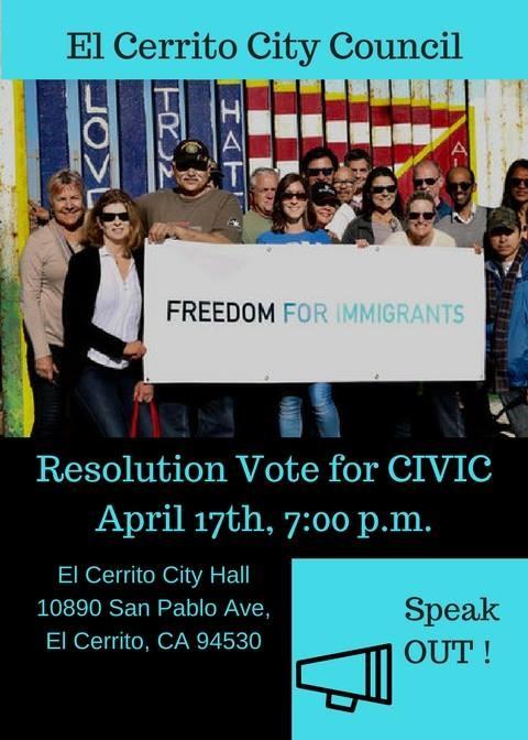 El Cerrito City Council supports CIVIC
