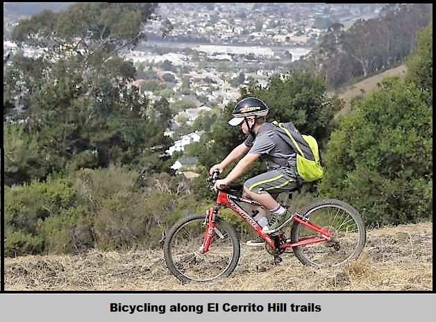 Bicycling on El Cerrito hill trails1