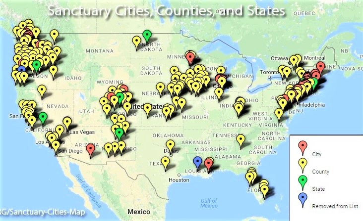 Sanctuary cities counties and states