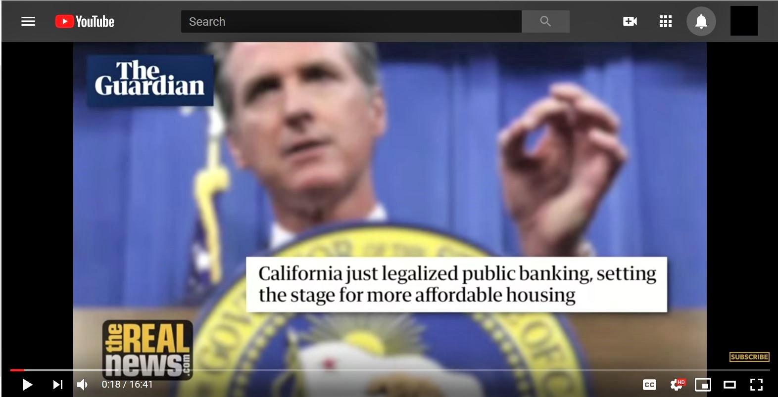 Gov Newsom Legalized Public Banking